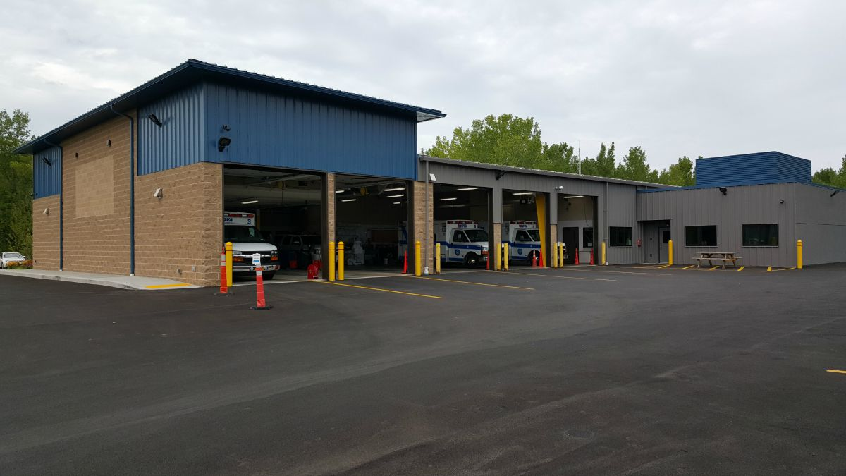 Two new bays to house our seven ambulances and two squad vehicles.