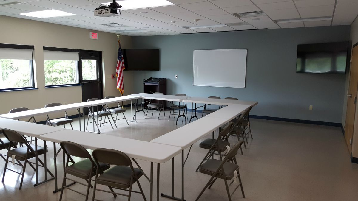 Larger training room for classes.